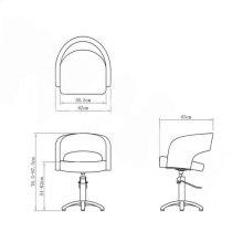 Кресло парикмахерское VM804 на гидравлике хром | Venko - Фото 23345