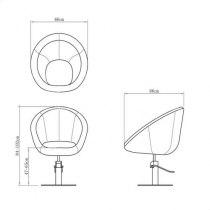 Парикмахерское кресло VM808 - Фото 23349