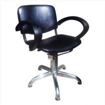 Кресло парикмахерское Eliza на пневматике хром - Фото 27287