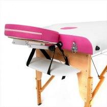 Складной массажный стол Colibri RelaxLine белый/розовый | Venko - Фото 27833