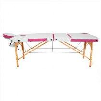 Складной массажный стол Colibri RelaxLine белый/розовый | Venko - Фото 27834