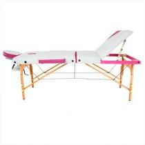 Складной массажный стол Colibri RelaxLine белый/розовый | Venko - Фото 27835