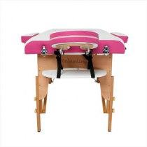 Складной массажный стол Colibri RelaxLine белый/розовый | Venko - Фото 27836