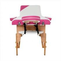 Складной массажный стол Colibri RelaxLine белый/розовый | Venko - Фото 27837