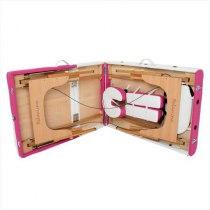 Складной массажный стол Colibri RelaxLine белый/розовый | Venko - Фото 27838