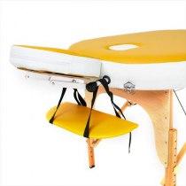 Складной массажный стол RelaxLine, Sahara желтыйбелый | Venko - Фото 27868