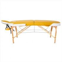 Складной массажный стол RelaxLine, Sahara желтыйбелый | Venko - Фото 27869