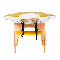 Складной массажный стол RelaxLine, Sahara желтыйбелый | Venko - Фото 27870