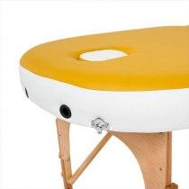 Складной массажный стол RelaxLine, Sahara желтыйбелый | Venko - Фото 27872