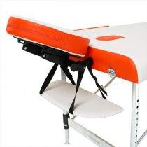 Складной массажный стол Sonata RelaxLine белый/оранжевый | Venko - Фото 27879
