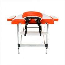Складной массажный стол Sonata RelaxLine белый/оранжевый | Venko - Фото 27880