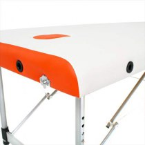 Складной массажный стол Sonata RelaxLine белый/оранжевый | Venko - Фото 27881