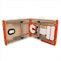 Складной массажный стол Sonata RelaxLine белый/оранжевый | Venko - Фото 27882