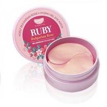 Гидрогелевые патчи для глаз с рубином, KOELF Ruby & Bulgarian Rose Eye Patch 60 шт | Venko