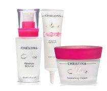 Комплексный уход для поддержания иммунной активности кожи (3 продукта) Christina   Venko