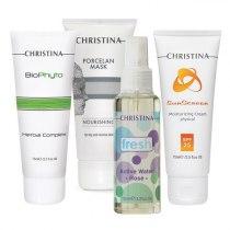Уход — восcтановление для повреждённой кожи (4 продукта) Christina | Venko