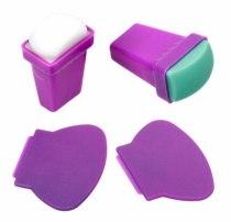 Набор для стемпинга BUNDLEMONSTER, из двух штампов: силикон и резина | Venko