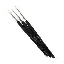 Набір пензликів G. Lacolor для дизайну з чорною ручкою (3шт.) | Venko