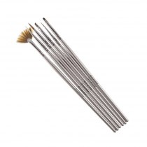 Набір пензликів G. Lacolor для нарощування гелем і дизайну нігтів з сірою ручкою (6шт.) | Venko