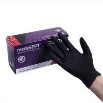 Нитриловые перчатки неопудренные NitrileblackPF L medaSEPT, 200 шт | Venko