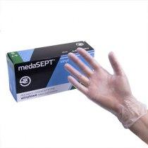 Виниловые перчатки опудренны Vinyl S medaSEPT, 100 шт | Venko