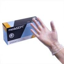 Виниловые перчатки опудренны Vinyl XS medaSEPT, 100 шт | Venko