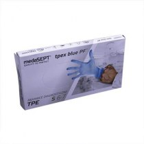 Полимерные перчатки неопудренные TPEXbluePF S medaSEPT, 100 шт | Venko - Фото 37607