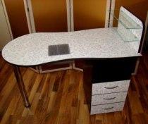Складной маникюрный стол с вытяжкой Стандарт - Фото 38181