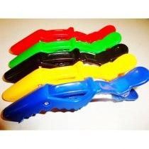 Зажим-крокодил ДенІС пластик цветной 5шт/уп | Venko