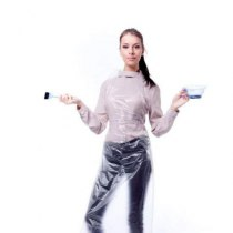 Фартук одноразовый полиэтиленовый белый 100 шт | Venko