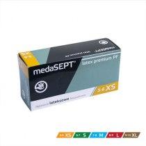 Латексные перчатки неопудренные Latex premium PF XS medaSEPT, 100 шт | Venko - Фото 41447