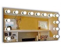 Візажне дзеркало J-Mirror Hollywood з лампами розжарювання, 600 х 600 мм | Venko