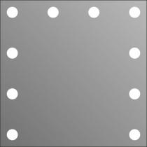 Визажное зеркало J-Mirror Hollywood с лампами накаливания, 600 х 600 мм | Venko - Фото 41569