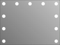 Визажное зеркало J-Mirror Hollywood с лампами накаливания, 600 х 800 мм | Venko - Фото 41571