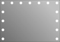 Визажное зеркало J-Mirror Hollywood с лампами накаливания, 600 х 1000 мм - Фото 41575