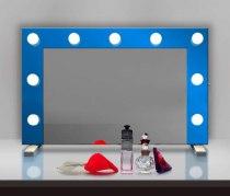 Визажное зеркало J-Mirror Hollywood T Color с лампами накаливания, 600 х 600 мм | Venko