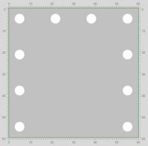 Визажное зеркало J-Mirror Hollywood T Color с лампами накаливания, 600 х 600 мм | Venko - Фото 41661