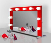 Визажное зеркало J-Mirror Hollywood T Color с лампами накаливания, 700 х 1000 мм | Venko