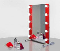 Визажное зеркало J-Mirror Hollywood T2 Color с LED лампами , 800 х 600 мм | Venko
