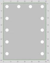 Визажное зеркало J-Mirror Hollywood T2 Color с лампами накаливания, 800 х 600 мм | Venko - Фото 41751