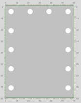 Визажное зеркало J-Mirror Hollywood T2 с LED лампами , 800 х 600 мм - Фото 41771