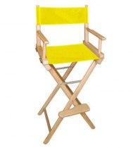 Стул визажиста с желтой материей L02NY | Venko