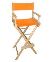 Стул визажиста с оранжевой материей L02NO | Venko