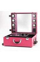 Настольная make-up студия с освещением PS-IST01L (розовая) | Venko