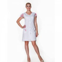 Халат медицинский женский мод.Анжелика  46-170(сорочка цвет белый) | Venko