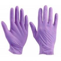 Перчатки нитриловые не опудренные фиолетовые S, 100 шт/уп imt | Venko