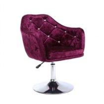 Парикмахерское кресло HC830 фиолетовое | Venko
