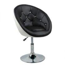 Парикмахерское кресло HC-8516 черно-белое | Venko