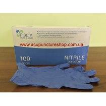 Перчатки нитриловые неопудренные голубые М Polix PRO & MED, 100 шт | Venko - Фото 49949