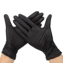 Перчатки нитриловые неопудренные черные L Polix PRO & MED, 100 шт | Venko